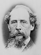 Authors Metal Prints - Charles Dickens 1812-1870, Portrait Metal Print by Everett