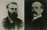 New York Stock Exchange Prints - Charles Dow And Edward Jones, Cofounded Print by Everett
