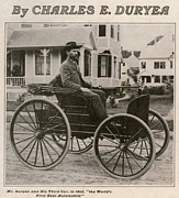 Carriages Posters - Charles Edgar Duryea 1862-1938 Poster by Everett
