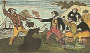 Piracy Framed Prints - Charles Gibbs, American Pirate Framed Print by Photo Researchers