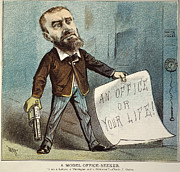 Charles Guiteau Cartoon Print by Granger