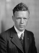 Flyers Metal Prints - Charles Lindbergh 1902-1974 American Metal Print by Everett