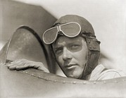 Firsts Framed Prints - Charles Lindbergh 1902-1974 Wearing Framed Print by Everett