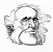 Caricature Prints - Charles Lyell, Caricature Print by Gary Brown