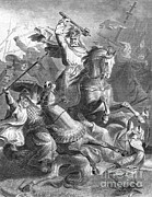 Role Prints - Charles Martel, Battle Of Tours, 732 Print by Photo Researchers