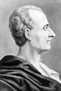 Enlightenment Framed Prints - Charles Montesquieu Charles-louis De Framed Print by Everett