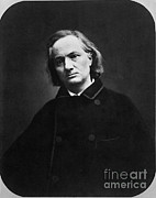Charles Baudelaire Prints - Charles Pierre Baudelaire Print by Photo Researchers