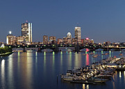 March 19 Prints - Charles River Yacht Club Print by Juergen Roth