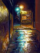 Realism Pastels - Charleston Alley by Cameron Hampton PSA
