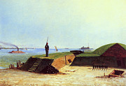 Ironclad Prints - Charleston Battery, 1864 Print by Granger