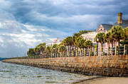 Seawall Framed Prints - Charleston Battery  Framed Print by Drew Castelhano
