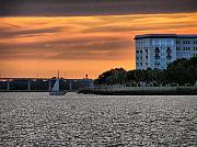 Lowcountry Prints - Charleston Battery Sunset Print by Dustin K Ryan