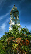 Religious Prints Photos - Charleston Belltower by Steven Ainsworth