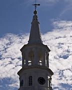 Weather Vane Prints - Charleston Clock Print by Al Powell Photography USA
