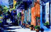 Rainbow Row Paintings - Charleston Dreaming by Trish McKinney