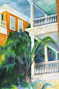 Battery Paintings - Charleston East Battery 19 by Joan Hogan