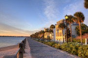 Angle Originals - Charleston East Battery Row Sunrise by Dustin K Ryan