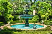 Fountain Photograph Prints - Charleston Fountain I Print by Steven Ainsworth