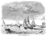 1835 Photos - Charleston Harbor, 1835 by Granger