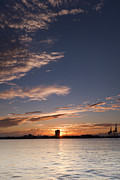 Charleston Sunset Framed Prints - Charleston Harbor Sunset Framed Print by Dustin K Ryan