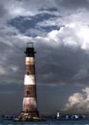 Photos Of Lighthouses Prints - Charleston Lights Print by Skip Willits