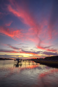Charleston Sunset Posters - Charleston Lowcountry Sunset Poster by Dustin K Ryan