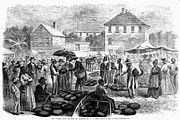 Watermelon Posters - Charleston: Market, 1866 Poster by Granger