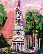 Charleston Paintings - Charleston Memories South Carolina by Ginette Fine Art LLC Ginette Callaway