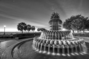 Charleston Digital Art Originals - Charleston Pineapple Fountain Fine Art Image by Dustin K Ryan