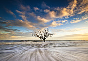 Sea Shore Prints - Charleston SC Botany Bay Edisto Island - Alone Print by Dave Allen