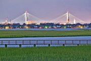 Arthur Ravenel Jr Bridge Framed Prints - Charleston South Carolina Skyline Framed Print by Dustin K Ryan