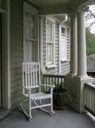Southern Comfort Prints - Charleston South Carolins Side Porch with Doric Columns Print by Richard Singleton