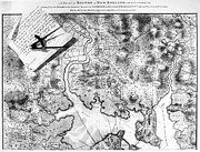 Charles River Art - Charlestown: Map, 1776 by Granger