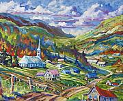 Churches Painting Originals - Charlevoix Inspiration by Richard T Pranke
