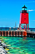 Great Lakes Photos - Charlevoix Light - HDR by Janice Adomeit