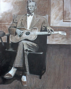 Black Tie Paintings - Charley Patton by Patrick Kelly
