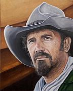 Cowboy Painting Originals - Charley Waite 2 by Kenneth Kelsoe