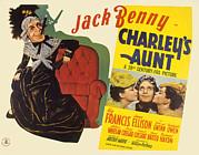 Benny Framed Prints - Charleys Aunt, Jack Benny, Anne Baxter Framed Print by Everett