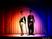 Chaplin Digital Art - Charlie and Marilyn by Stefan Kuhn
