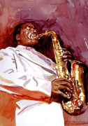 Saxaphone Prints - Charlie Bird Parker Print by David Lloyd Glover
