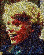 Bottlecap Metal Prints - Charlie Buckets Fizzy Lifting Drinks  Bottle Cap Mosaic Metal Print by Paul Van Scott