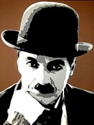 Iconic Paintings - Charlie Chaplin by Dan Carman