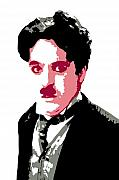 Popart Digital Art Metal Prints - Charlie Chaplin Metal Print by DB Artist
