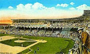Baseball Stadiums Painting Framed Prints - Charlie Comiskey Overlooking His Park In Chicago 1920 Framed Print by Dwight Goss