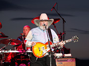 Live Music Photo Framed Prints - Charlie Daniels Framed Print by Bill Gallagher