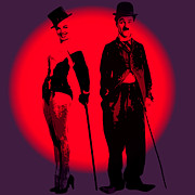 Chaplin Prints - Charlie meet Marilyn Print by Stefan Kuhn