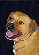 Staffordshire Bull Terrier Paintings - Charlie by Mike Lester