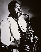 Saxophone Photo Prints - Charlie Parker Print by American School