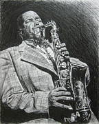 Saxophone Drawings - Charlie Parker by Michael Morgan