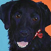 Dog Prints Prints - Charlie Print by Pat Saunders-White